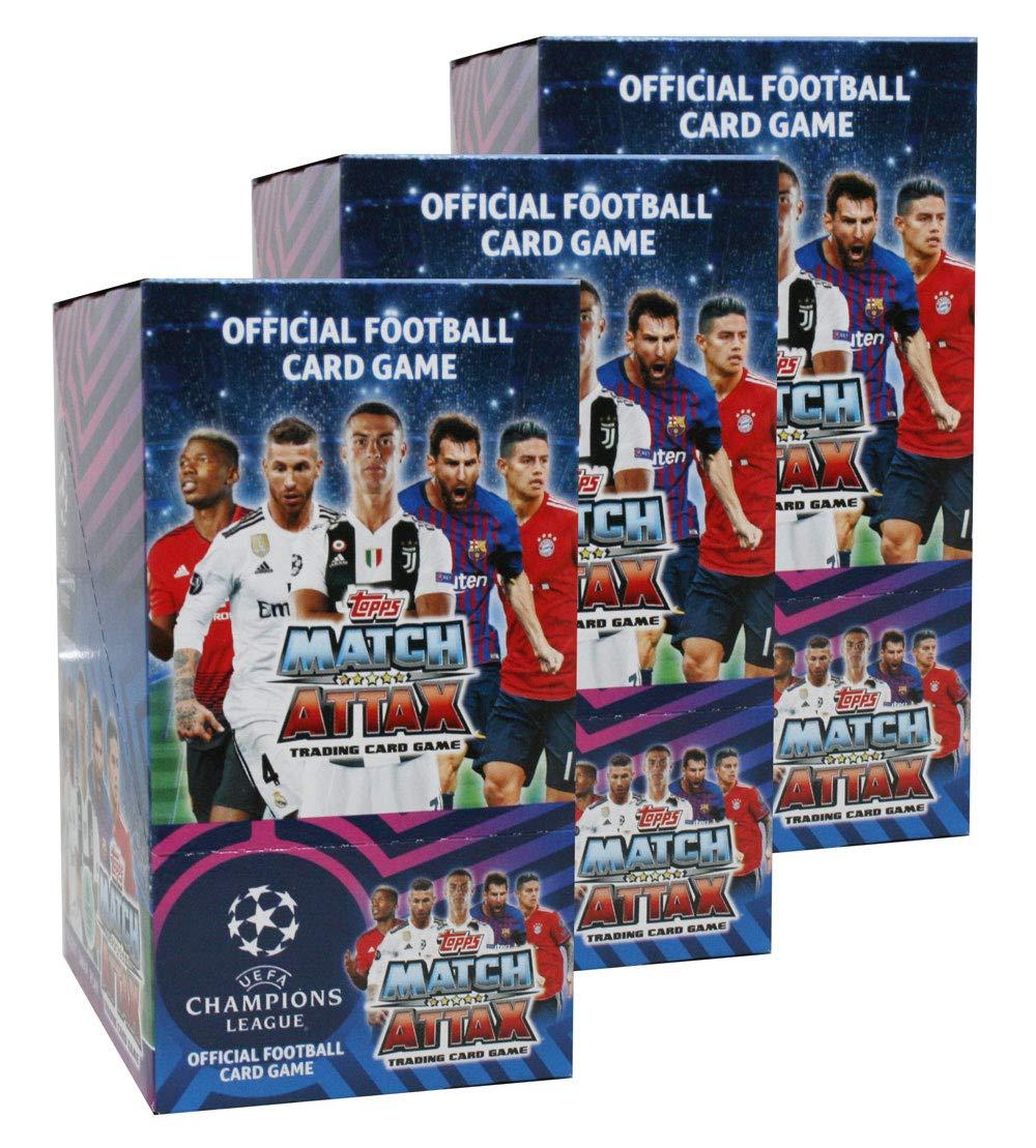 Unbekannt Topps - Champions League 2018/19 - Trading Cards - 3 Displays (90 Booster) - Deutsch