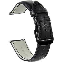 Correas De Reloj De Cuero 20mm 22mm - Correa De Repuesto para Hombres Y Mujeres - Hebilla De Acero Inoxidable - 18mm…