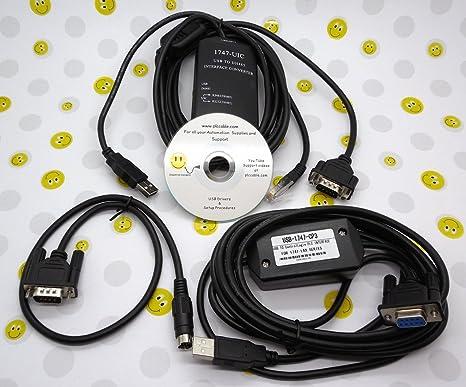 Allen Bradley 1747-UIC 1761-CBL-PM02 1747-CP3 USB Mini Combo Kit