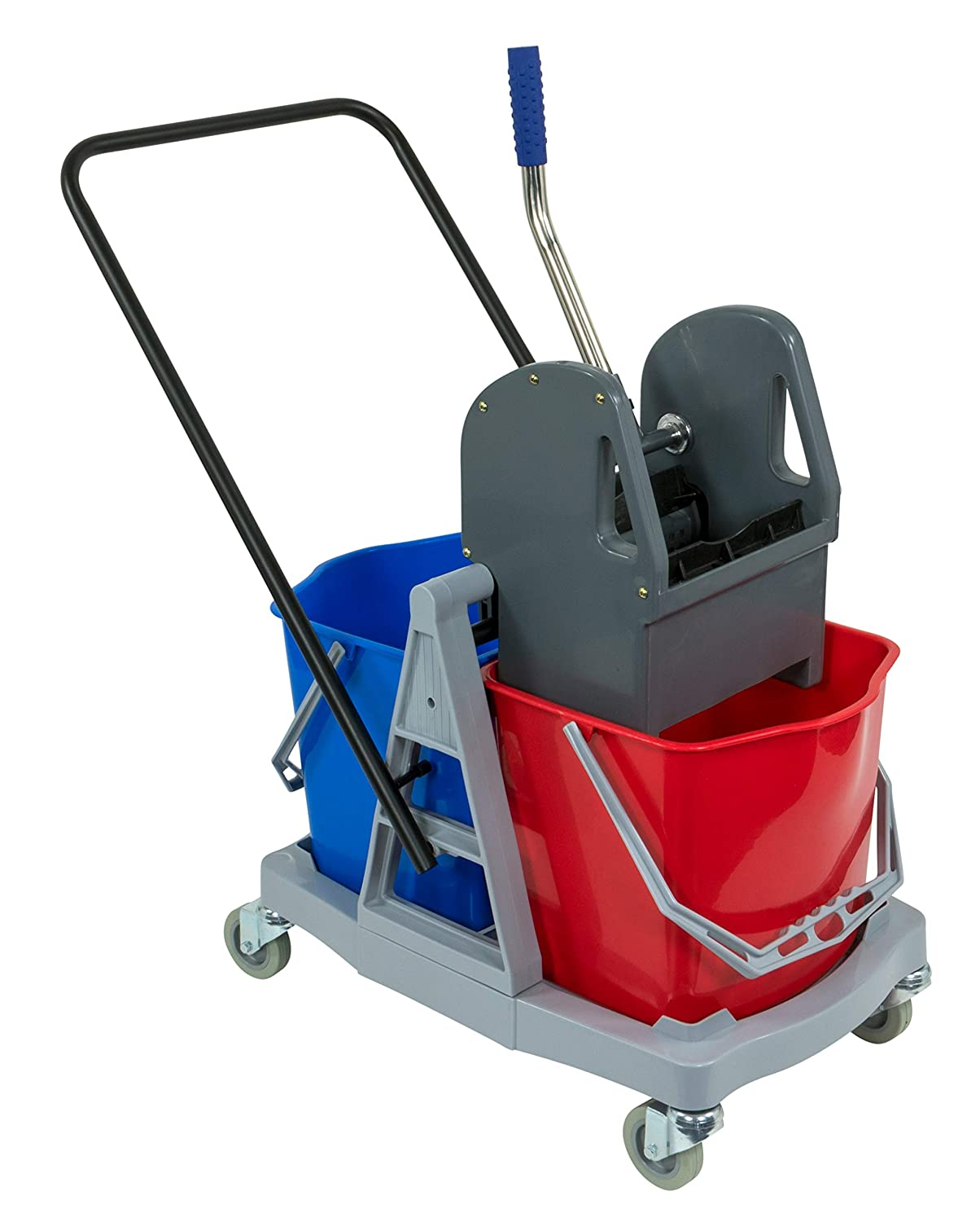 Cleaning trolley Sprintus 2x17 L cleaning trolley grey Plastic, Double baking MOP press 301001
