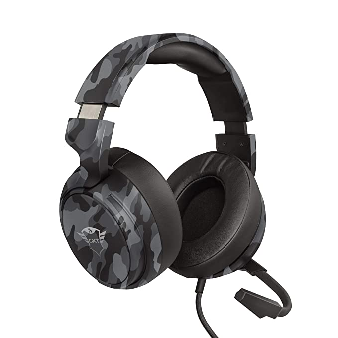 Trust Cascos Gaming GXT 433K Pylo Auriculares Gamer con Micrófono Plegable, Altavoces Activos de 50 mm, Cable Trenzado…