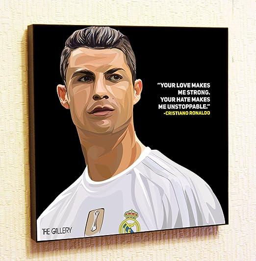 Cristiano Ronaldo 4 Photo Real Madrid Portugal Football Quote Sports Poster