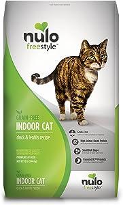 Nulo Indoor Grain Free Dry Cat Food With Bc30 Probiotic (Duck & Lentils Recipe, 12Lb Bag)