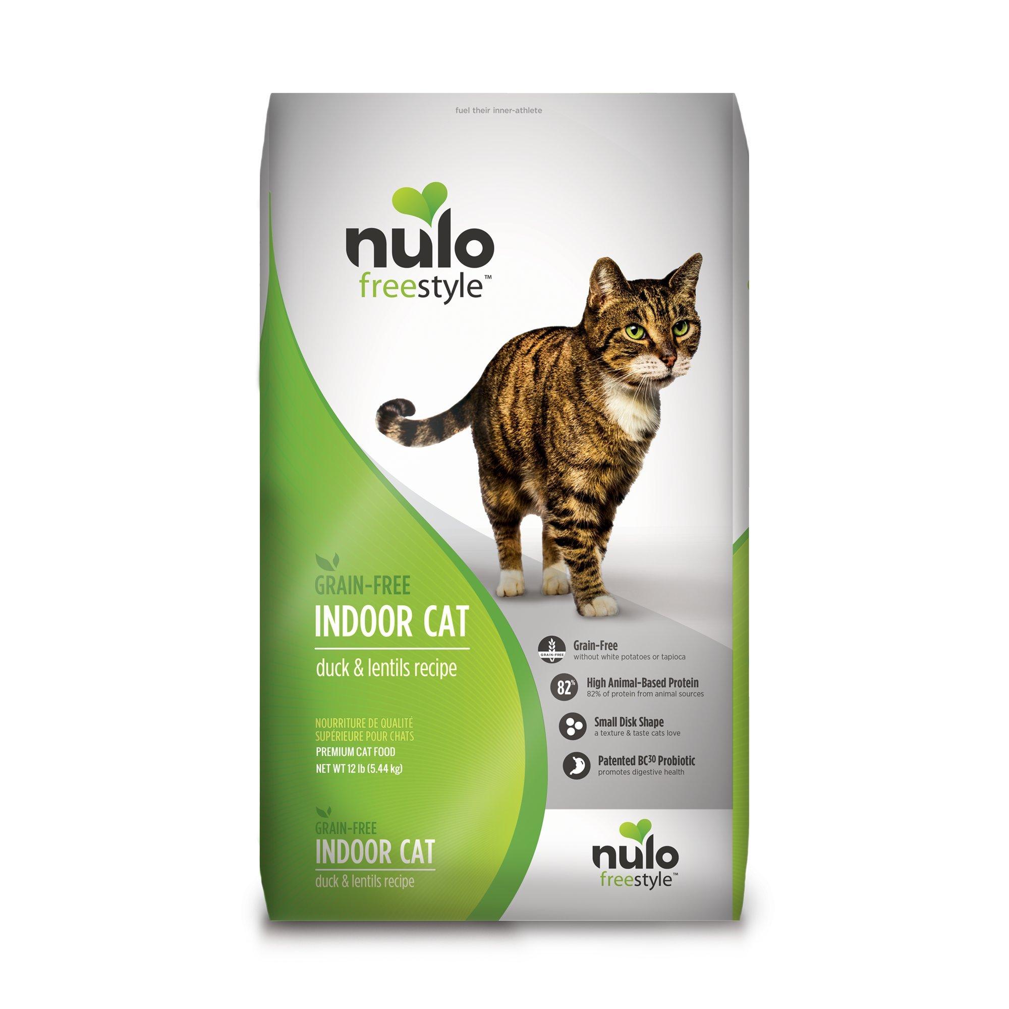 Nulo Grain Free Dry Cat Food BC30 Probiotic (Indoor, 12lb Bag)