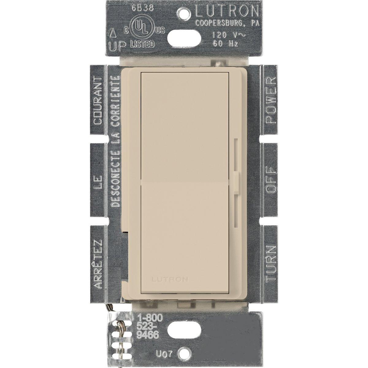 Lutron DVSCLV-10P-TP Diva 800-watt Single Pole Magnetic Low-Voltage Dimmer, Taupe