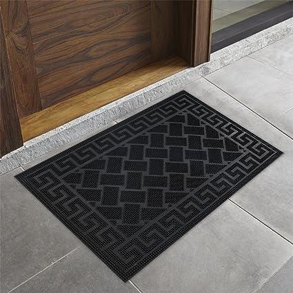 SPARROW DECORS Doormat for Home, Anti-slip, Brown Black Rubber for Main Door, Bedroom, Entrance, Kitchen