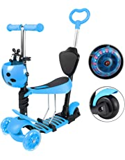 Yorbay Patinete Scooter Freestyle 3 en 1 Walker Trole Scooter 3 Ruedas de LED Altura Ajustable