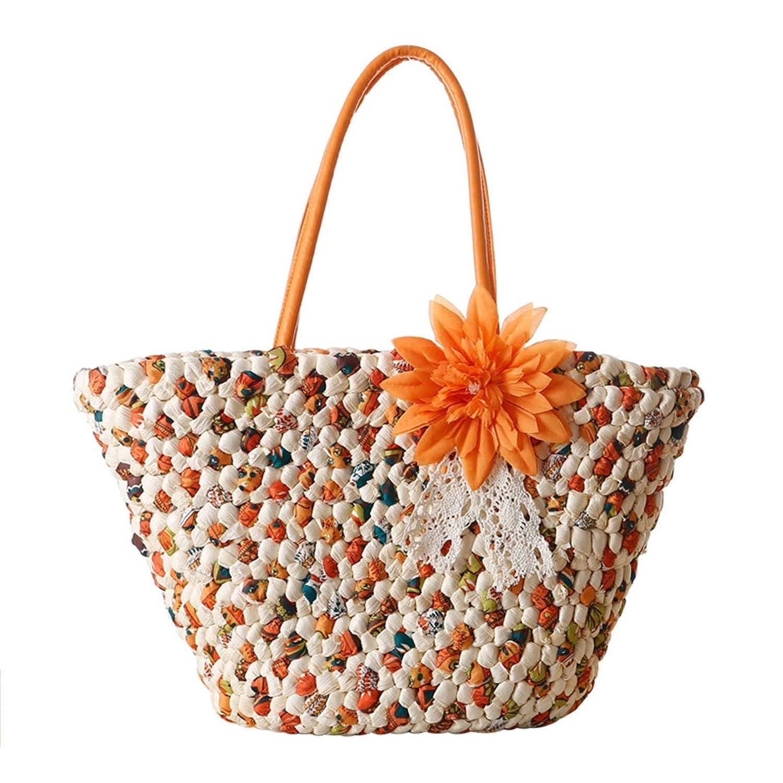 Naimo New Women Beach Straw Shoulder Bag Handbag Straw Bag Tote Bag