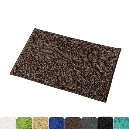 Mayshine 20x32 Inch Non Slip Bathroom Rug Shag Shower Mat Machine Washable  Bath Mats