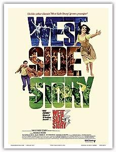 West Side Story - Starring Natalie Wood and Richard Beymer - Vintage Film Movie Poster c.1961 - Master Art Print - 9in x 12in