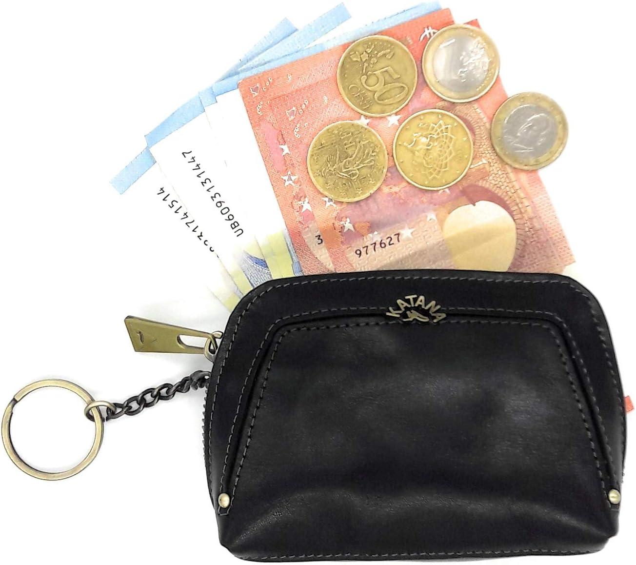 Porte Monnaie en Cuir Femme id/éal pour Offrir Cadeau Noel f/ête Mamans Noir Anniversaire