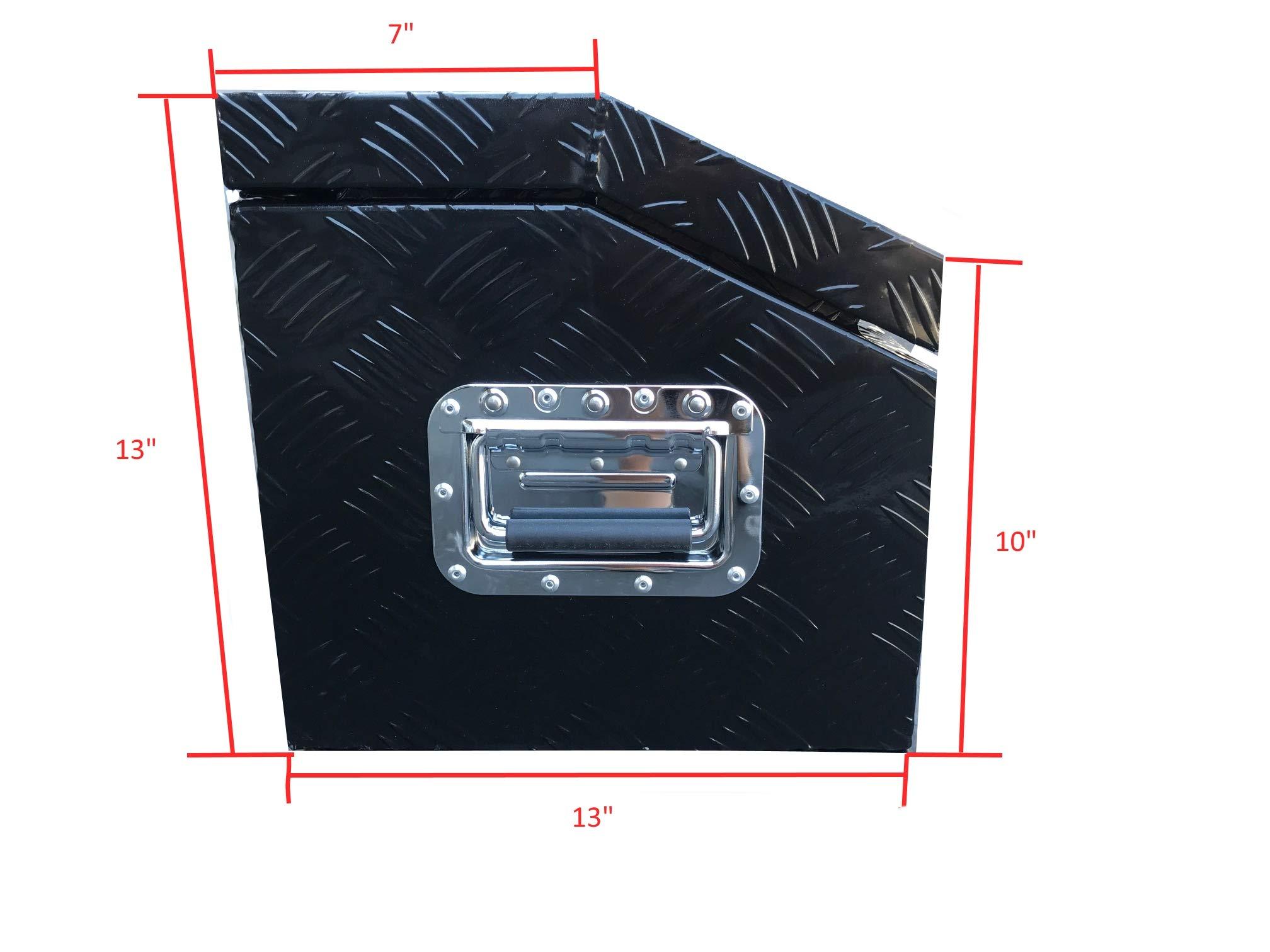 Brait BR302B Aluminum Tool Box for ATV Storage Truck Pickup RV, Black by Brait (Image #4)