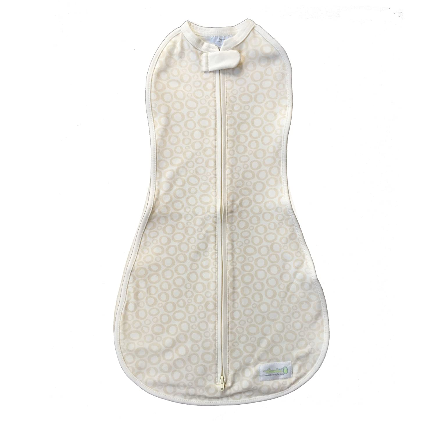 Woombie Organic Baby Cocoon Swaddle -Big Baby 3-6 Months-Tan O's 1650