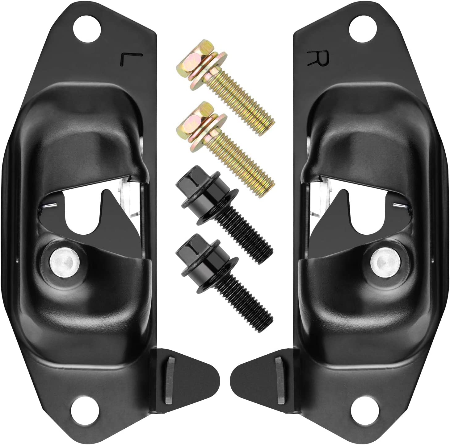 99-06 Chevy Silverado and GMC Sierra Replacement Tailgate Latch and Striker Bolt Set Fits Left Driver and Right Passenger Sides T1A 15921948 15921949