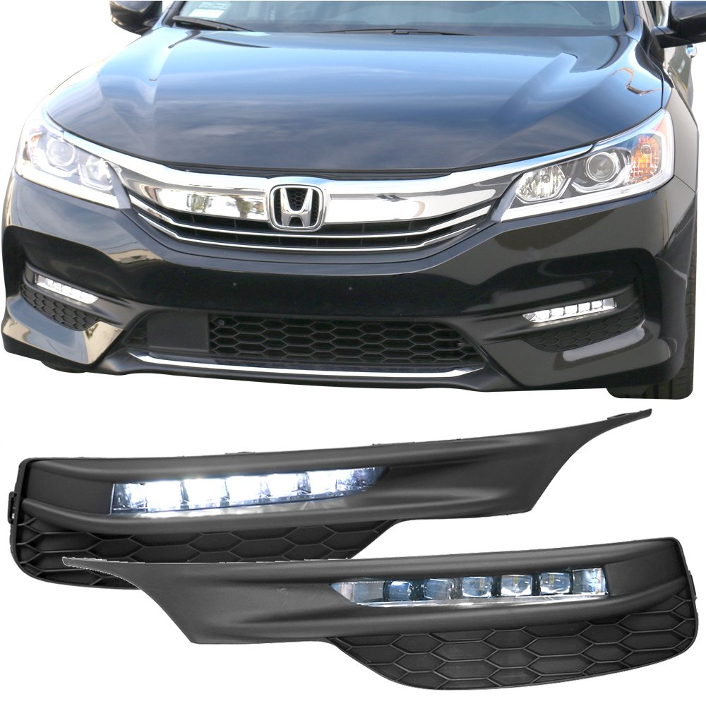 Lights Fits 2016-2017 Honda Accord |Sedan OE Style LED Fog Light Lamp Kit w/ Switch & Relay Pairs by IKON MOTORSPORTS by IKON MOTORSPORTS (Image #1)