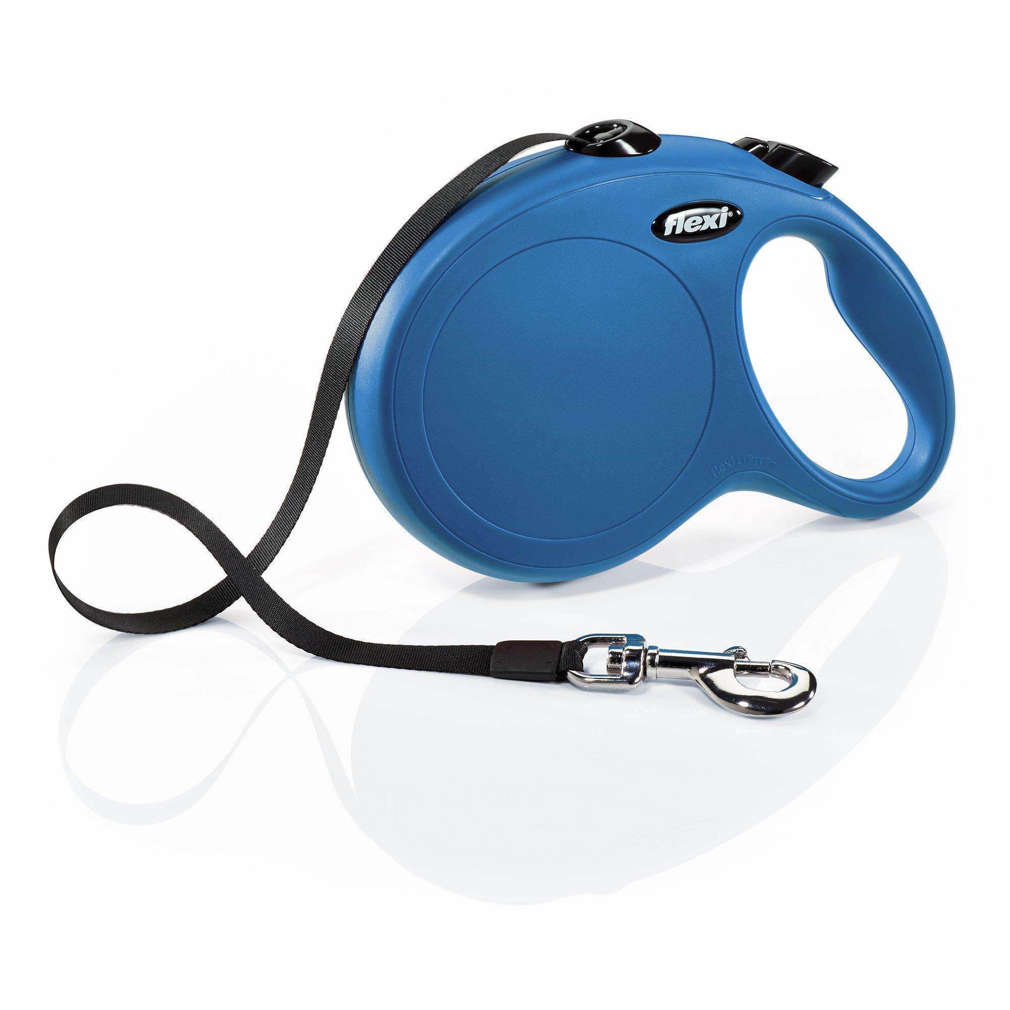 Flexi CL30T8.250.BL New Classic Tape Retractable Leash, Blue, Large/26'