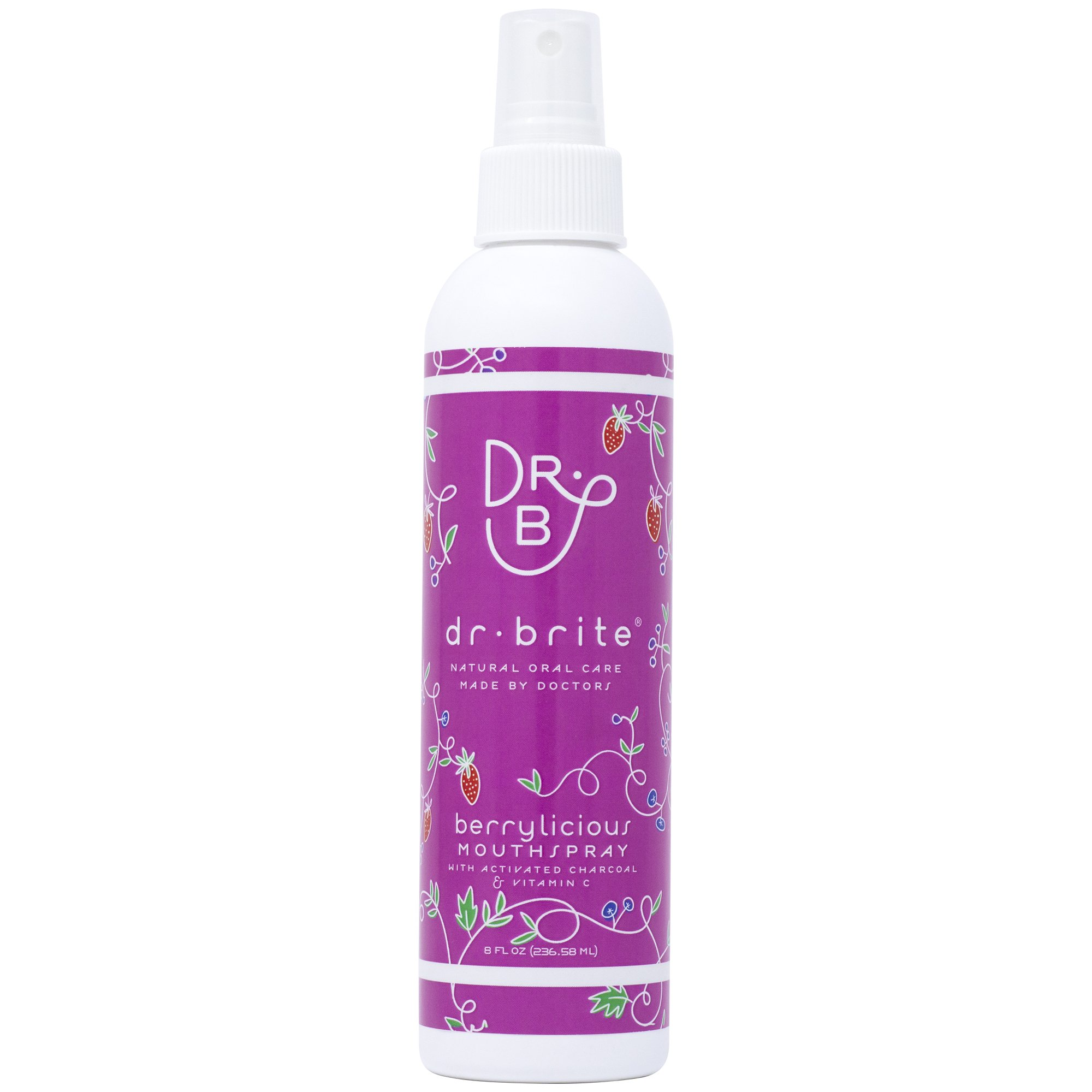 Dr. Brite Natural Kids Mouthwash, Strawberry Sky, 8 Fluid Ounce
