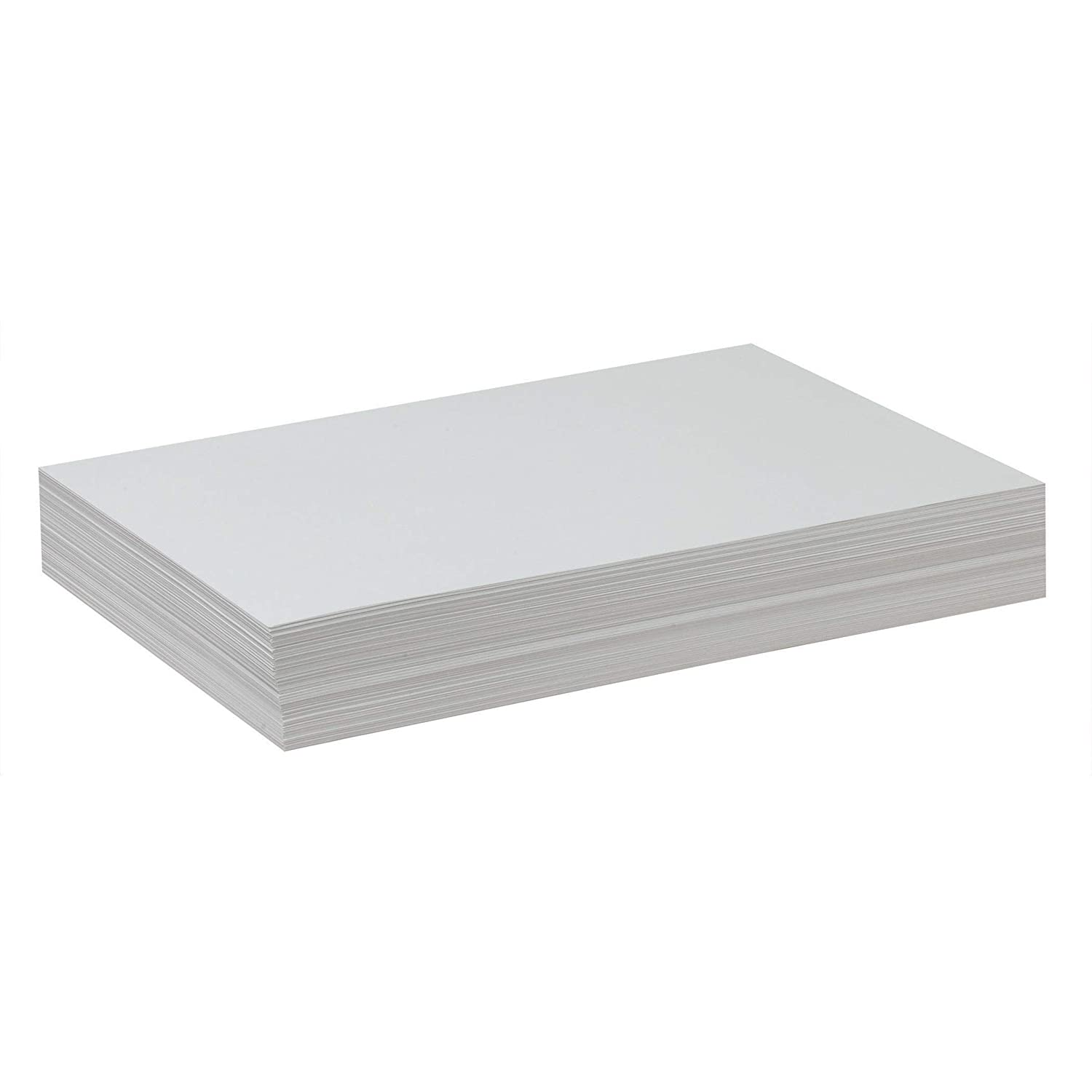 50 lb Pack of 500 School Smart Value Drawing Paper 18 x 24 Inches Soft White