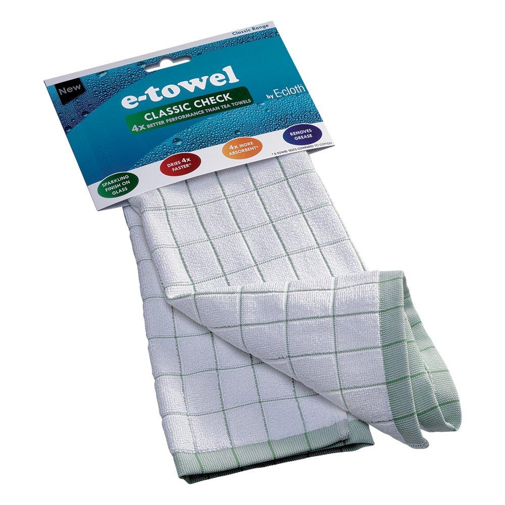 E-cloth CC Classic Check Tea Towel EnviroProducts Ltd 88371