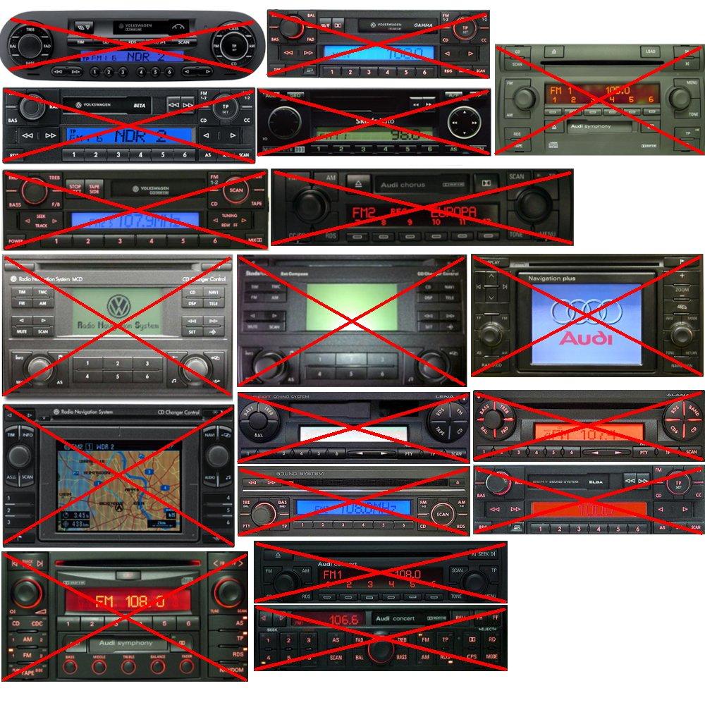 Seat et Skoda AUX USB Audi Avec kit mains libres Pour Volkswagen Adaptateur Bluetooth microphone et t/él/écommande filaire musique