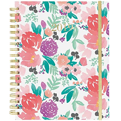 Amazon.com : Floral Feels Large Wiro Agenda 2019 Planner ...