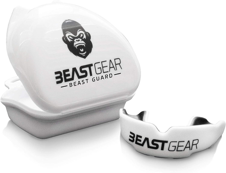 Beast Gear - Protector bucal para boxeo, MMA, rugby, muay thai, hockey, judo, artes marciales de karate y todos los deportes de contacto.