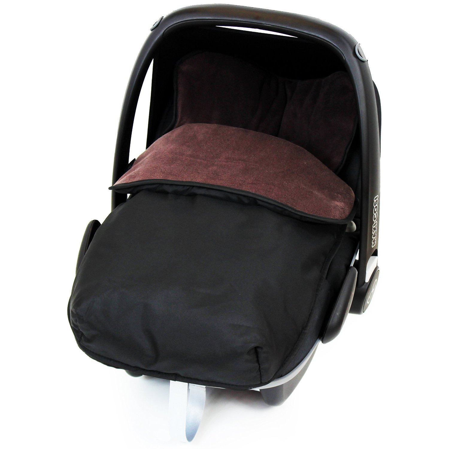 Universal Car Seat Footmuff To Fit Jane - Hot Chocolate (Black / Brown) iSafe iSBgtCrsFmBrown