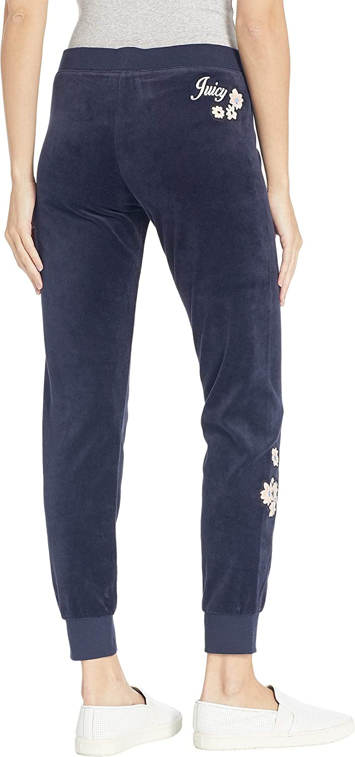 7db7028cf590 Amazon.com  Juicy Couture Women s Track Velour Floral Patches Zuma Pants   Clothing