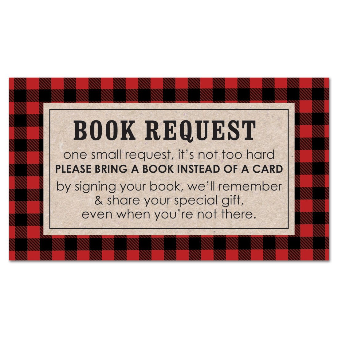 MyExpression.com 48 cnt Lumberjack Baby Shower Book Request Cards by MyExpression.com (Image #1)