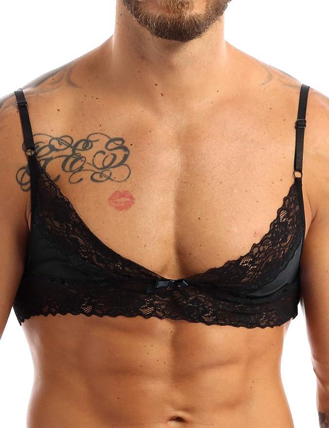 Sissy Men Training Bra Crossdress Wire-free Bralette Crop Top Underwear Lingerie