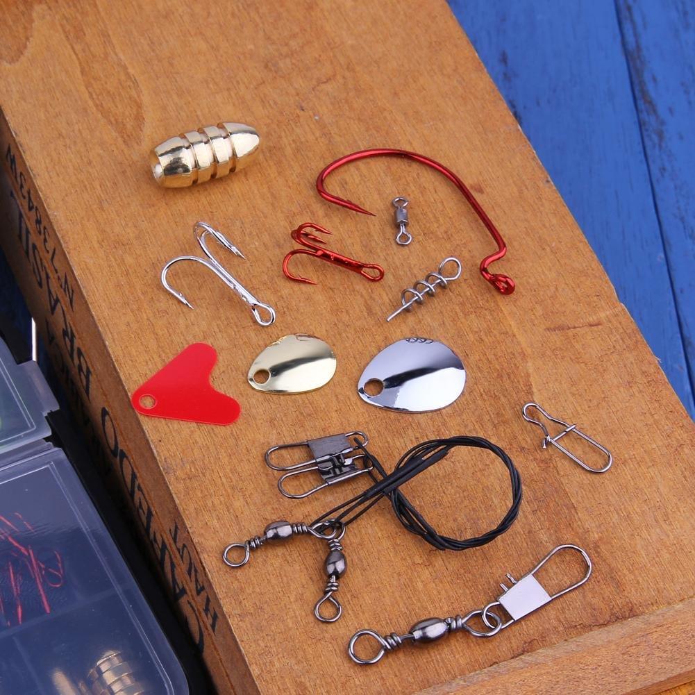 Foru-1128pcs mar pesca cebo Rigs Rock Mar pesca se/ñuelo caja aparejo Kit de herramientas