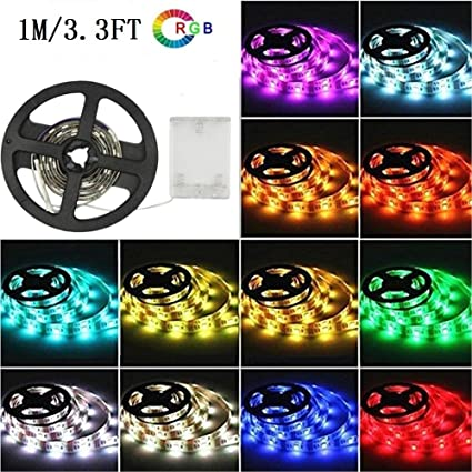 Amazon Com Sursynch Color Changing Led Flexible Light Strip