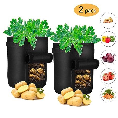Freyamall 2 Bolsas de Cultivo para Patatas de 7 Galones ...