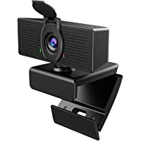 Webcam with Microphone, 1080P HD Webcam & Privacy Cover, USB Plug and Play Laptop PC Desktop Web Camera, 110-Degree View…