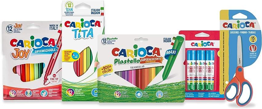 Carioca Set Todo para EL Cole | Kit Material Escolar: Rotuladores ...