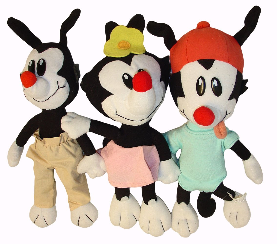 amazon com animaniacs wakko yakko and dot plush toys set of 3
