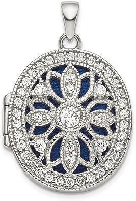 925 Sterling Silver Cubic Zirconia Fancy Pendant