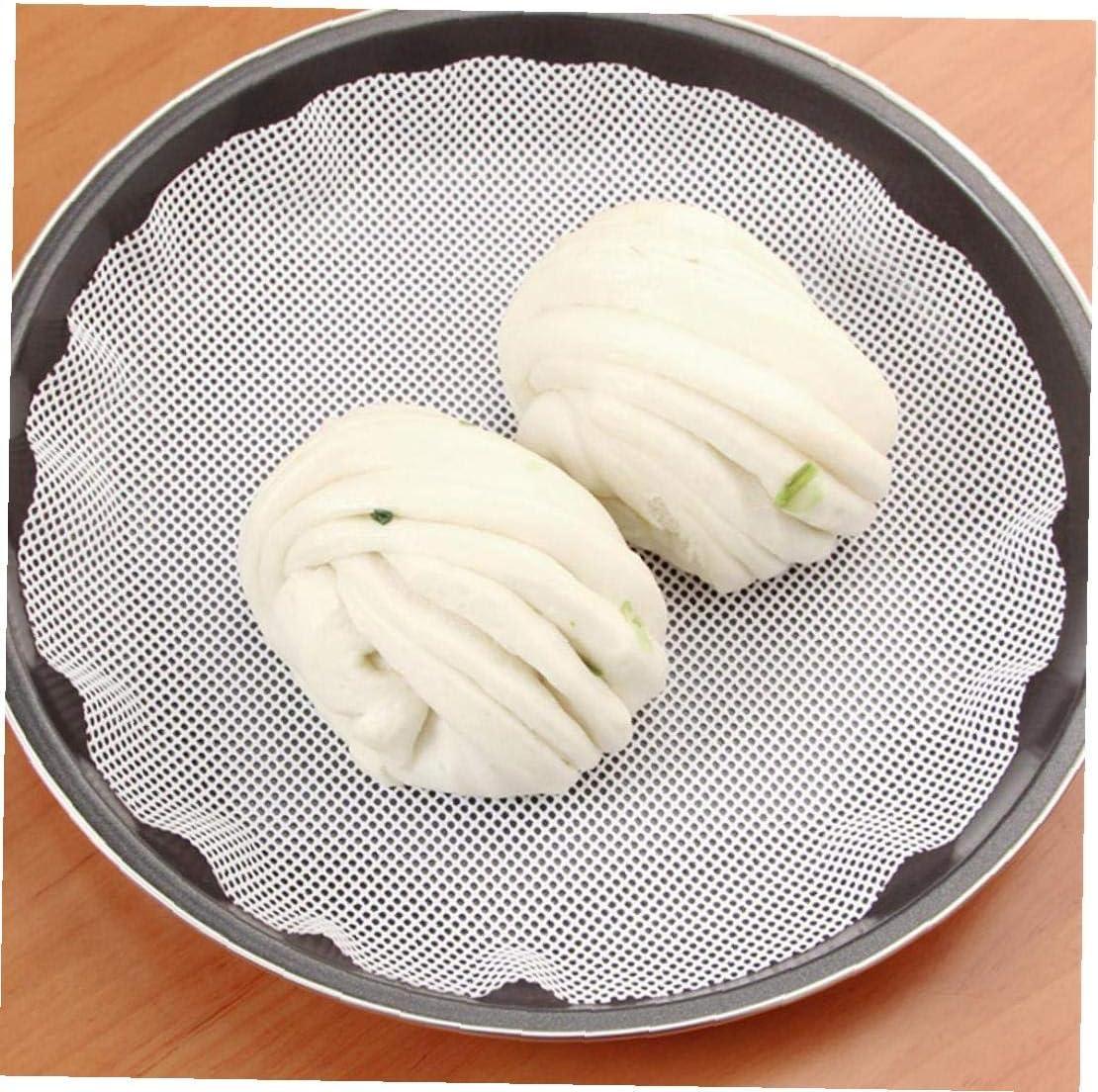 Beito 1pc Antiadherente de Silicona Blanca Vapor Dim Sum Restaurante de Papel de Cocina Bajo Vapores Mat Cocina Que Cocina Herramientas Accesorios