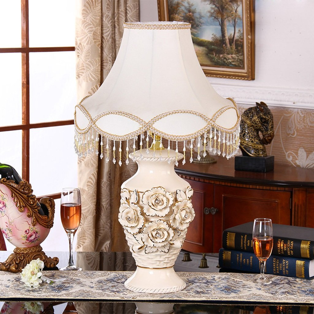 Kreative keramische Verzierungen Dekorative Keramik-Lampe Wohnzimmer Schlafzimmer Nachttischlampe, Wohnaccessoires