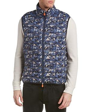 Save The Duck Mens Marc Puffer Vest, L, Blue