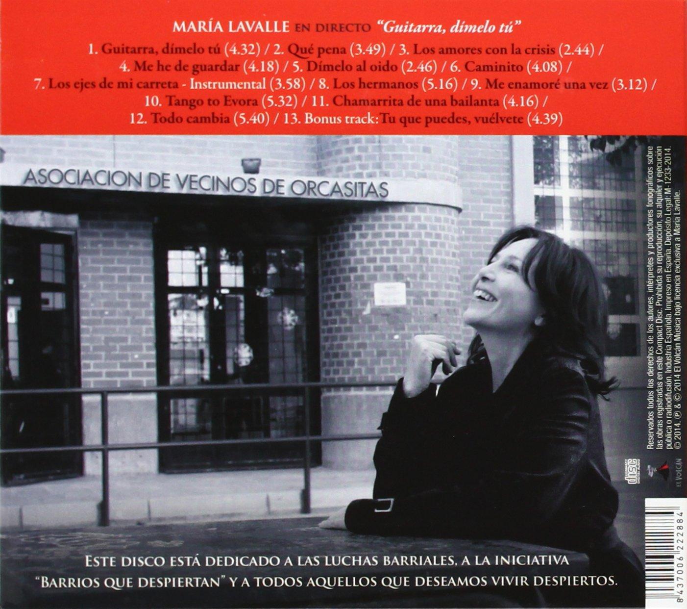 Guitarra, Dímelo Tú: María Lavalle: Amazon.es: Música