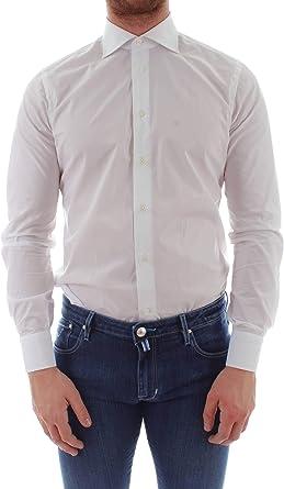 Borriello Camisa Slim a Medida de Hombre 1401: Amazon.es ...