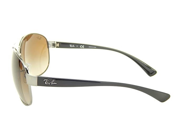 199016ee90 Amazon.com  New Ray Ban RB3386 004 13 Gunmetal  Brown Gradient 63mm  Sunglasses  Clothing