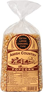 product image for Amish Country Popcorn | 2 lb Bag | Extra Large Caramel Type Popcorn Kernels | Old Fashioned with Recipe Guide (Extra Large Caramel - 2 lb Bag)