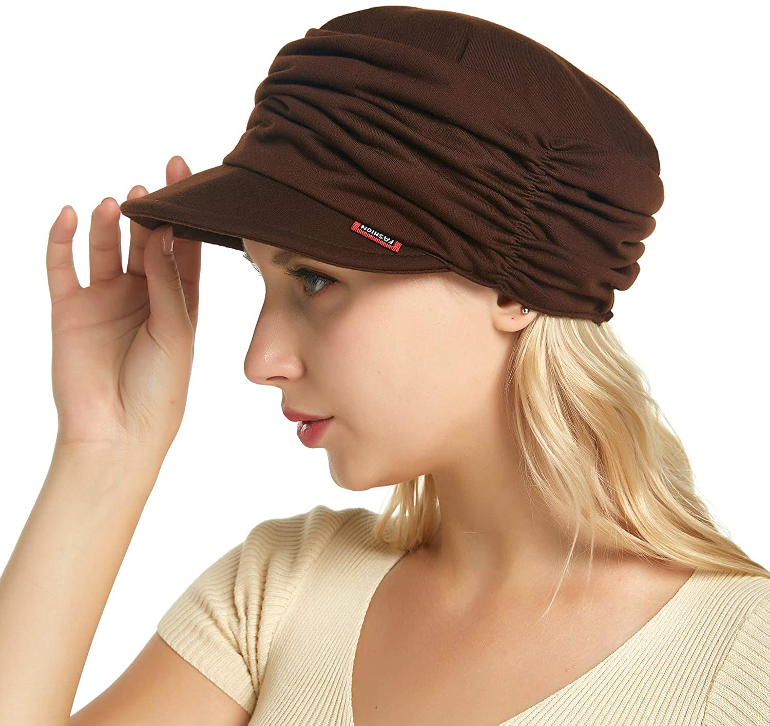 Best for Daily Use HatsCity Fashion Hat Cap with Brim Visor for Woman Ladies