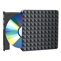 Externes DVD/CD Laufwerk USB 3.0 Tragbarer DVD / CD Brenner DVD / CD Tragbarer DVD/CD-Player für Windows 2003/Vista/XP/7/8.1/10/Mac OS