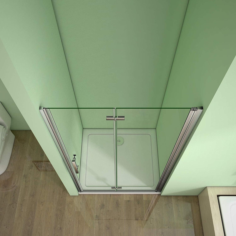 Perfect 760mm Frameless Bifold Shower Door 6mm Glass Shower Enclosure Cubicle Door