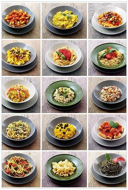 Wall Ario – Póster de pasta italiana en calidad premium, tamaño: 50 x 125