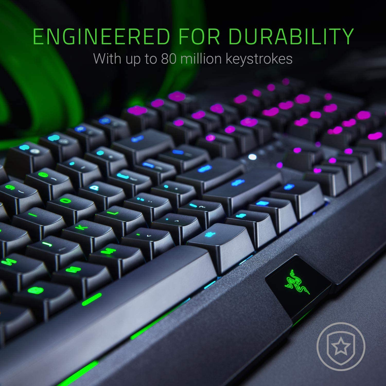 DE-Layout Taktil /& Klickend Premium Mechanical Full-Size Gaming Keyboard mit Razer Green Switches Razer PBT Keycap Set f/ür Gaming Keyboards Gr/ün Razer BlackWidow Elite