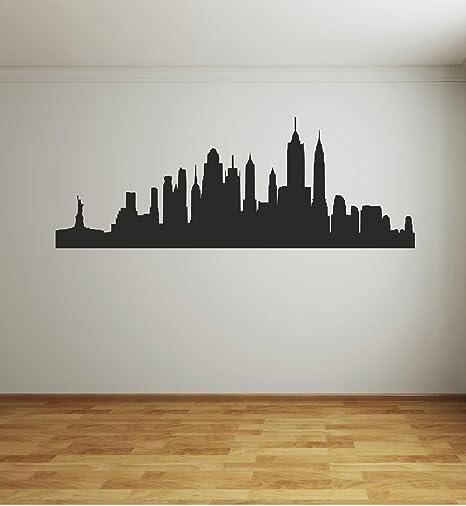 Adesivi Murali Skyline New York.Adesivo Murale Wall Sticker Skyline New York Citta By